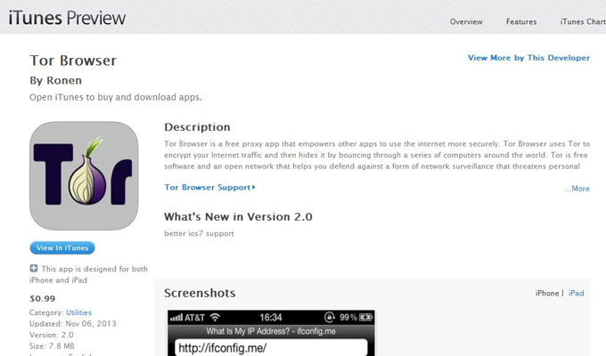 Malicious iOS Tor Browser in Apple App Store