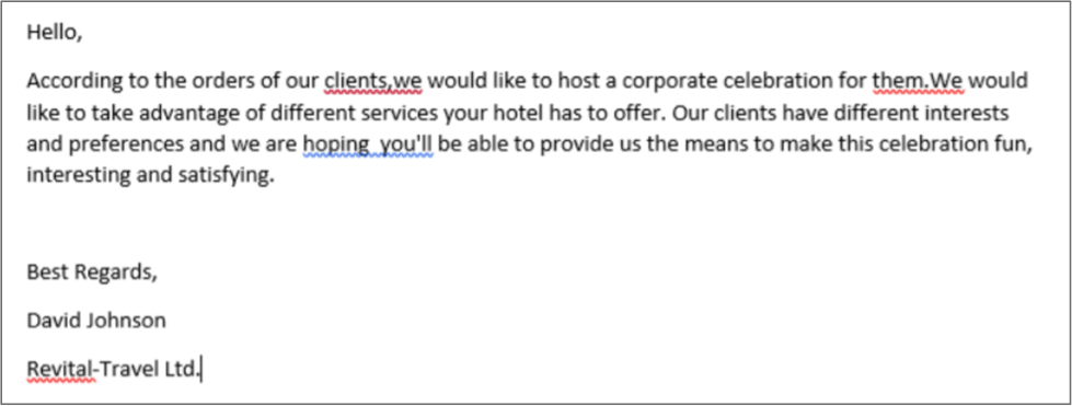 A screenshot of the malicious Word document is shown above.