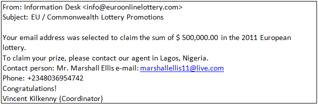 Congratulations youve won the reality behind online lotteries a european lotteryin nigeria one email informs recipients that they have won a prize spiritdancerdesigns Images